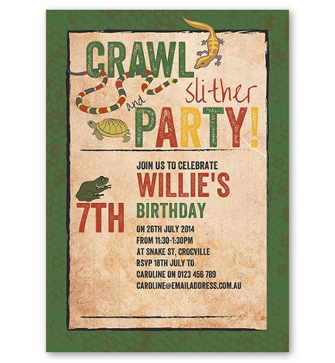 Creepy Crawly Birthday Invitation