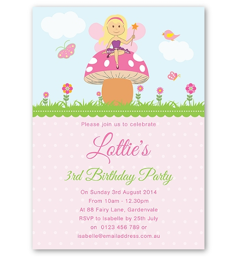 Garden Fairy Invitation
