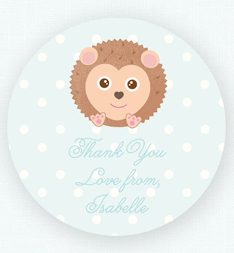 Noah's Ark Blue Thank-you Sticker