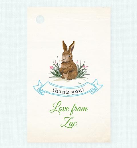 Garden Bunny Thank-you Tag