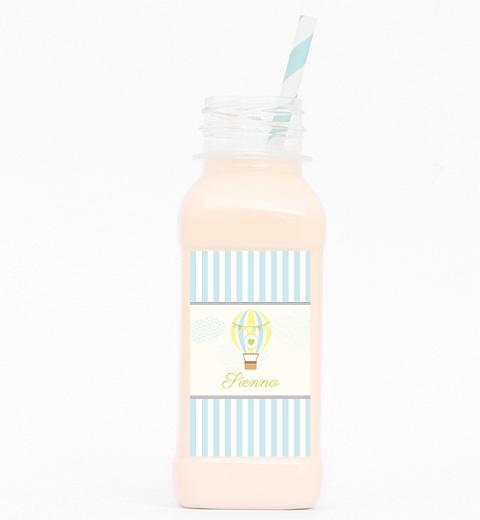 Blue Hot Air Balloon Juice Bottle