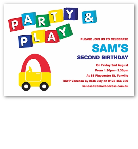 Play Centre Party Invitation