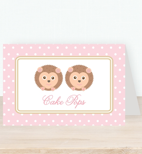Noah's Ark Pink Tent Card