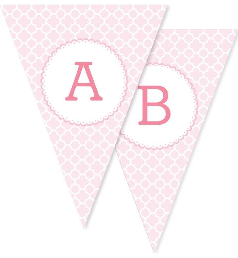 Pink Quatrefoil Bunting