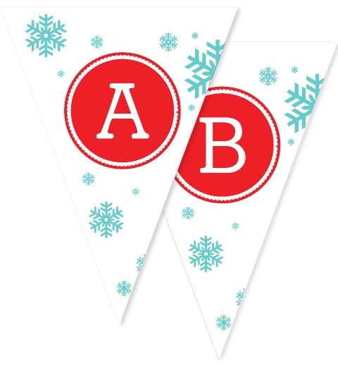 Snowflake Christmas Bunting