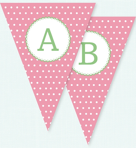 Girls Garden Bunny Theme Bunting