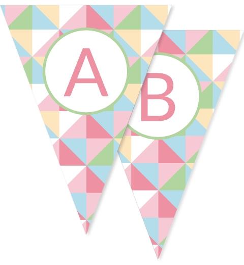 Pastel Geometric Bunting