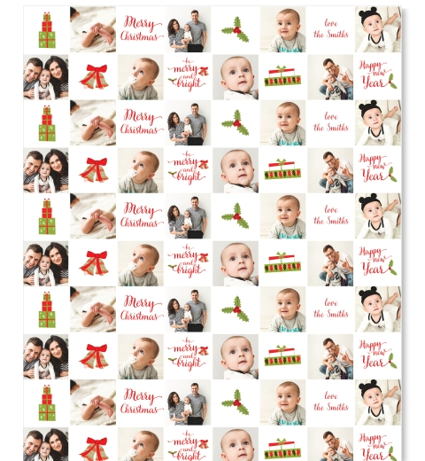 Traditional Christmas Wrapping Paper