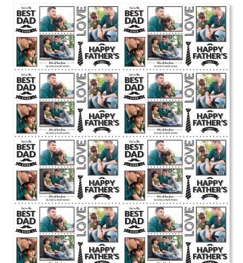 Bistro Style Fathers Day Wrapping Paper