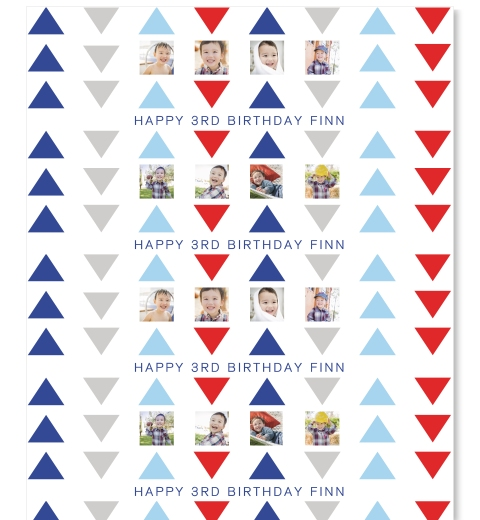 Navy & Red Triangle Wrapping Paper