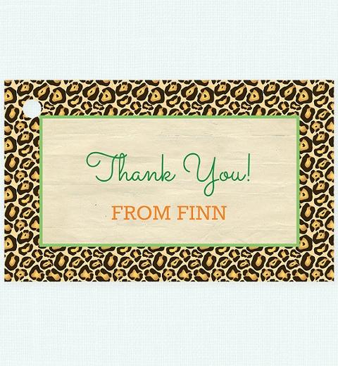 Kids Safari Thank-you Tag