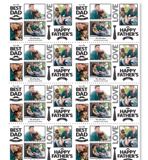 Bistro Style Father's Day Wrapping Paper