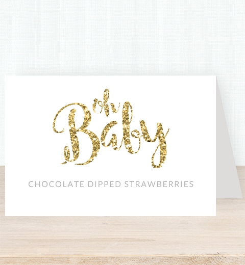 Oh Baby Tent Card
