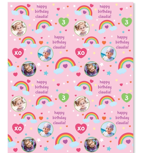 Rainbow Photo Wrapping Paper