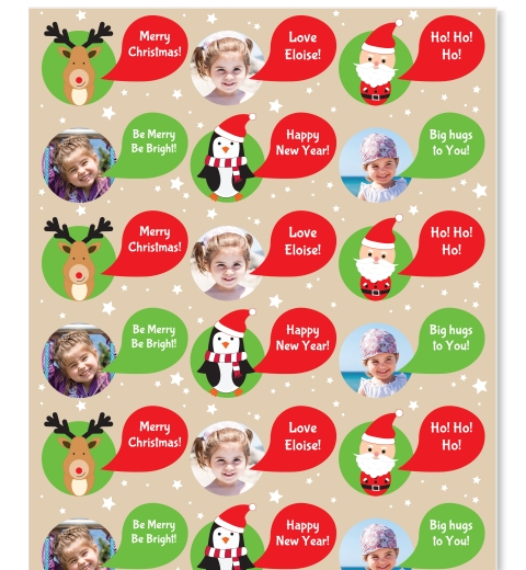 Cute Christmas Critters Wrapping Paper