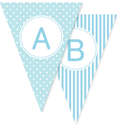 Blue Dots and Stripes Bunting