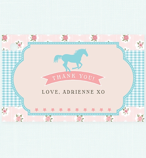 Vintage Pony Party Thank-you Tag