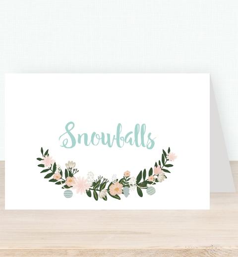 Skandi Floral Tent Card