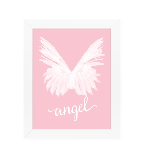 Angel Wings on Pink