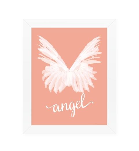 Angel Wings on Peach