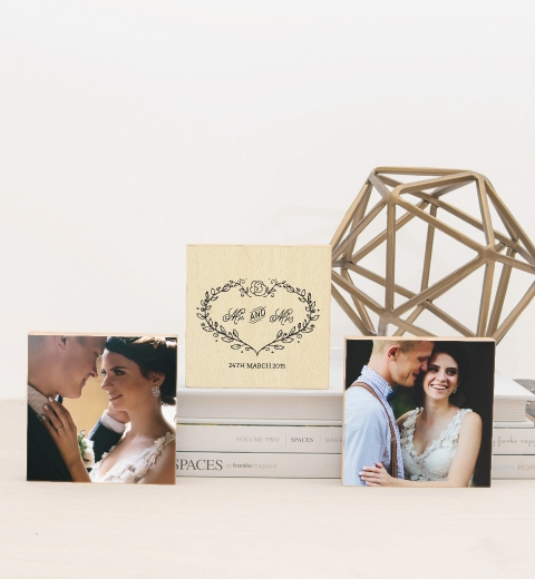 Mr & Mrs Photo Blocks
