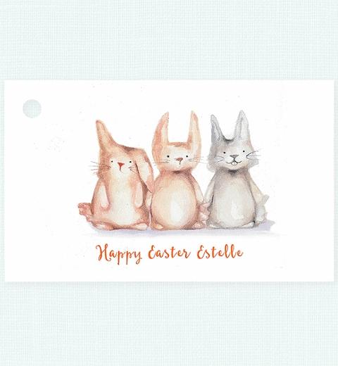 Bunny Gift Tag