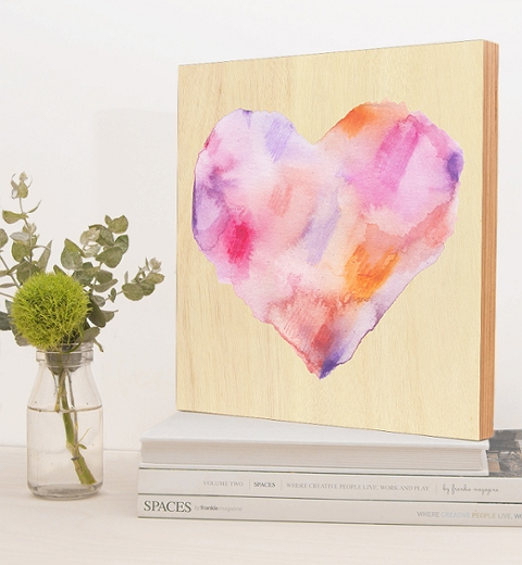 Watercolour Heart Wall Art by Tori Benz