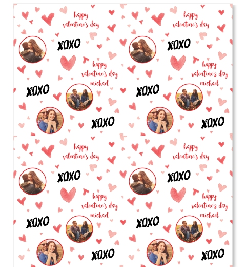 Red Hearts Wrapping Paper