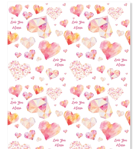 Watercolour Love Wrapping Paper