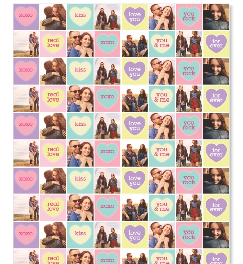 Candy Hearts Wrapping Paper