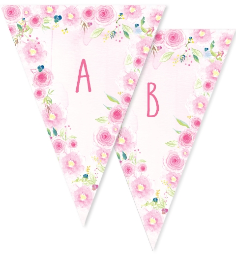 Floral Fairy Party Bunting