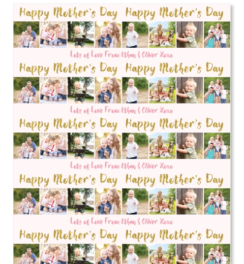 Gold Mother's Day Wrapping Paper