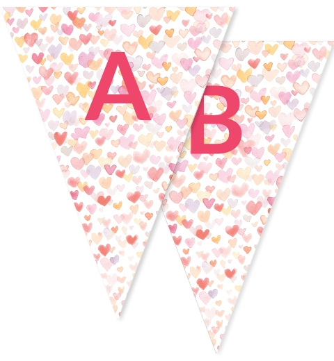 Watercolour Heart Party Bunting