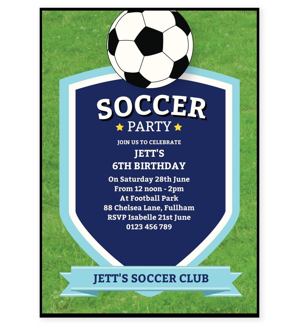 soccer party invitation love jk