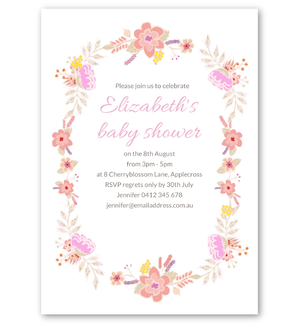Floral Baby Shower Invitation | Love JK