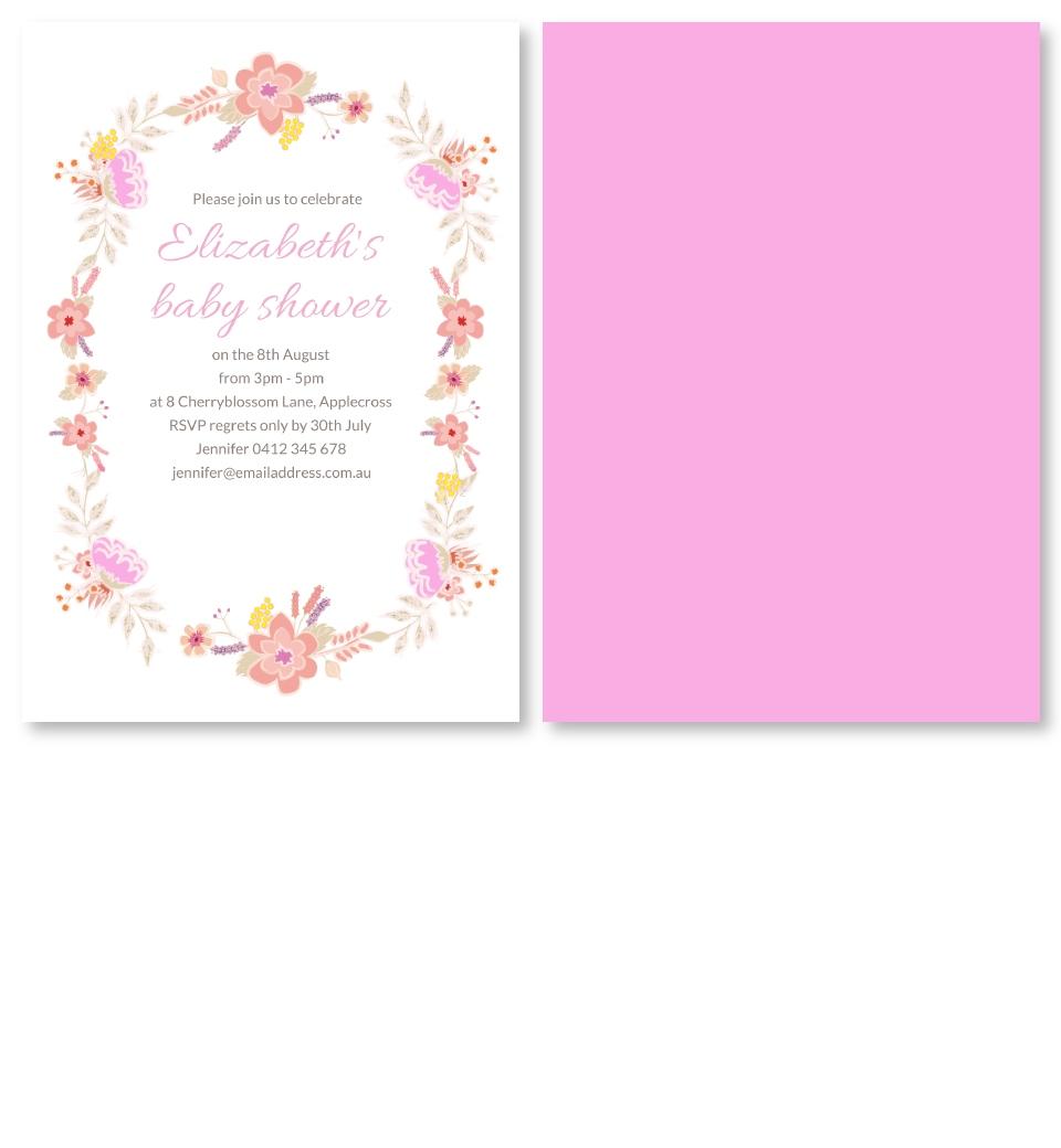 Floral Baby Shower Invitation | Love JK
