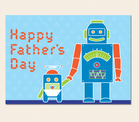 Robot Father's Day Greeting Card