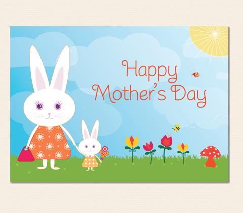 Mummy Bunny Greeting Card