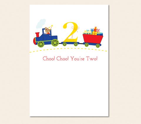 Choo! Choo! You're Two