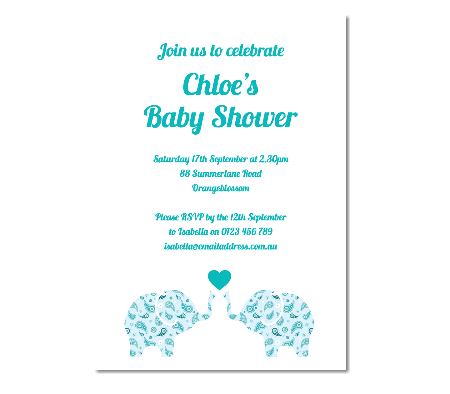 baby boy shower baby invitations elephant baby shower baby shower