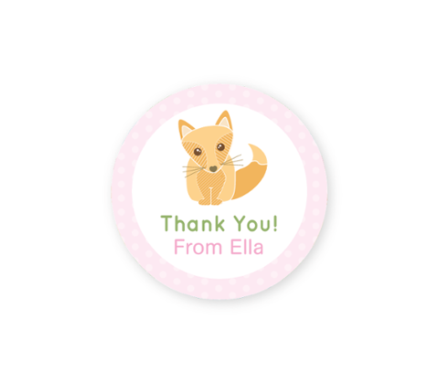 Forest Friends Thank-you Sticker