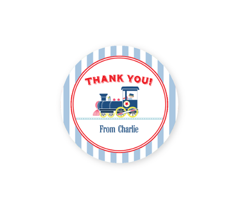 Train Thank-you Sticker