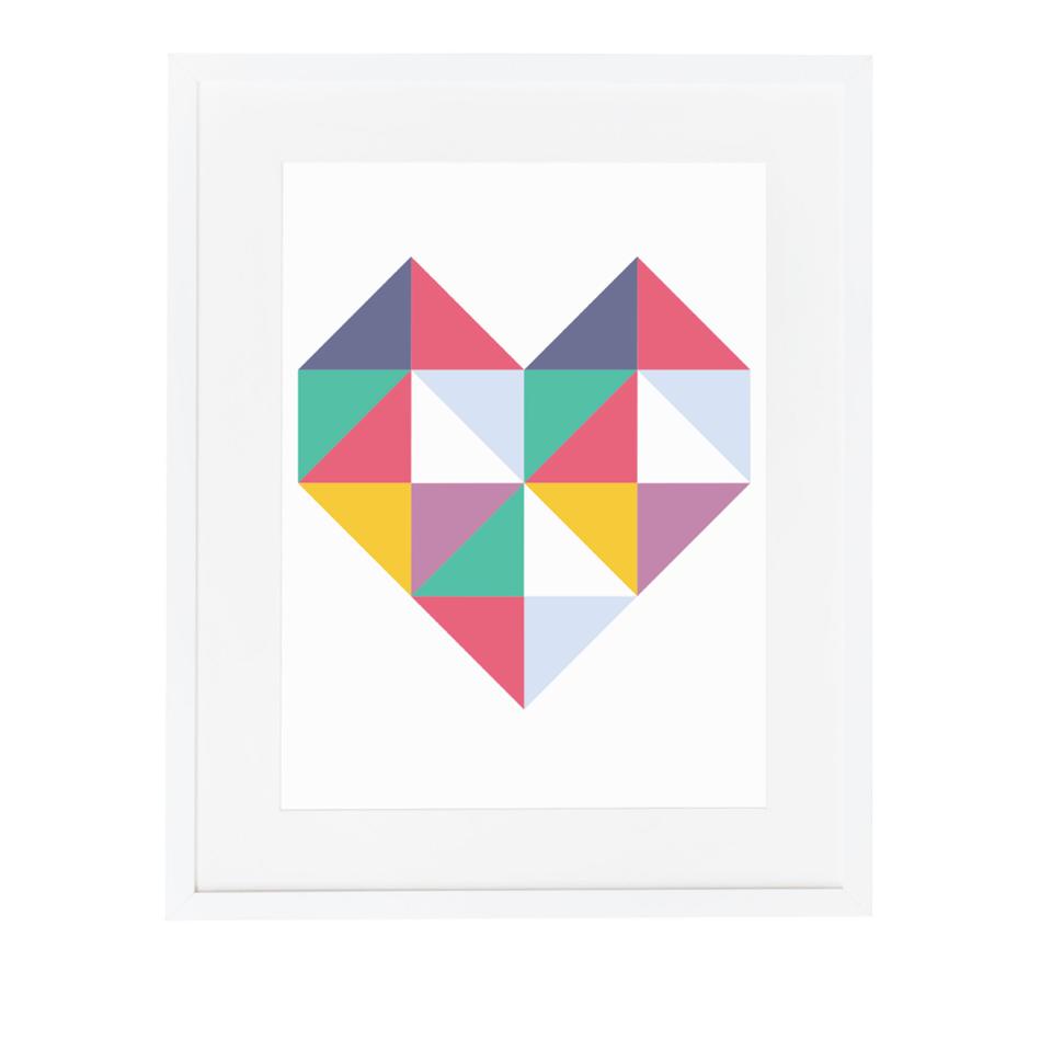 Geometric Love Heart Wall Art