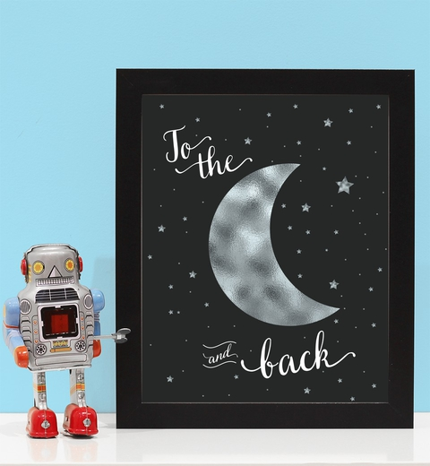 Love You to The Moon And Back - Silver