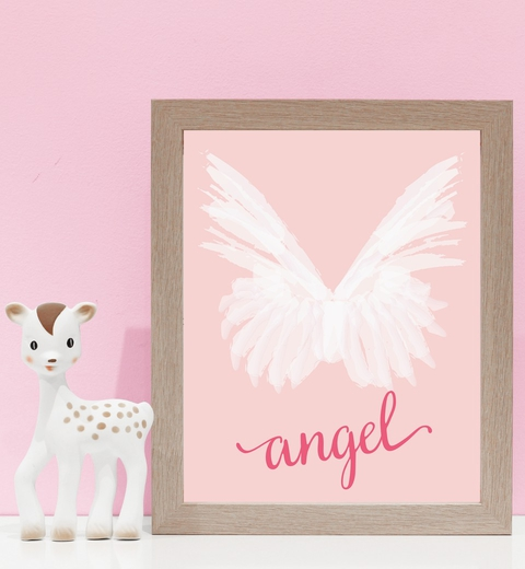 Angel Wings on Peach and Pink