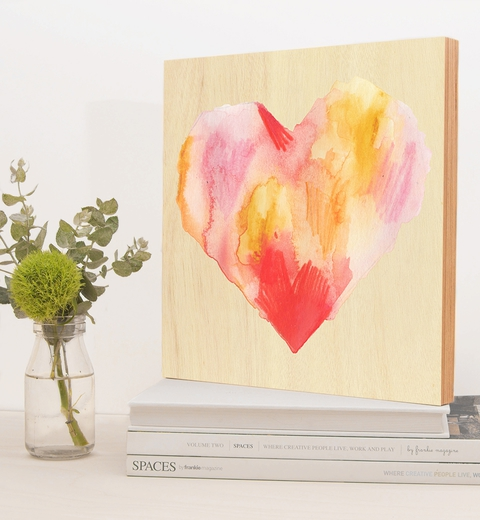 Fire In My Heart Birch Block by Tori Benz