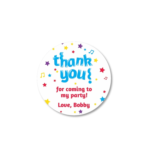 Let's Party! Thank-you Sticker