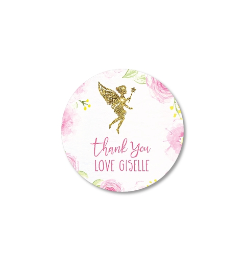 Floral Fairy Party Thank-you Sticker