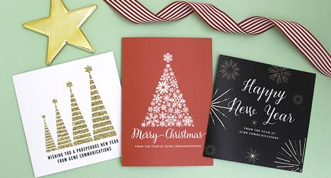 Business christmas cards love jk reheart Choice Image