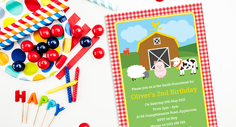 Second Birthday Invitations